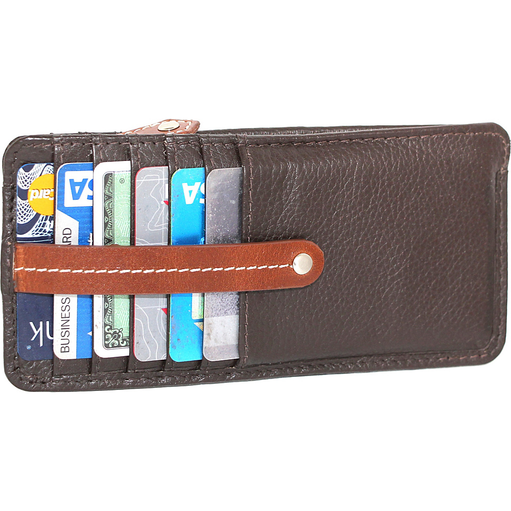 Nino Bossi Carley Card Holder Chocolate - Nino Bossi Womens Wallets - Women's SLG, Women's Wallets