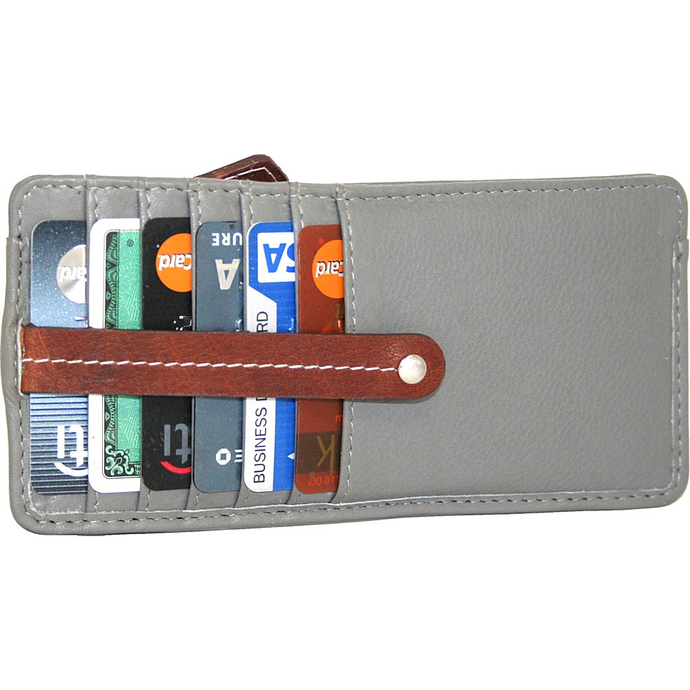 Nino Bossi Carley Card Holder Stone - Nino Bossi Womens Wallets - Women's SLG, Women's Wallets