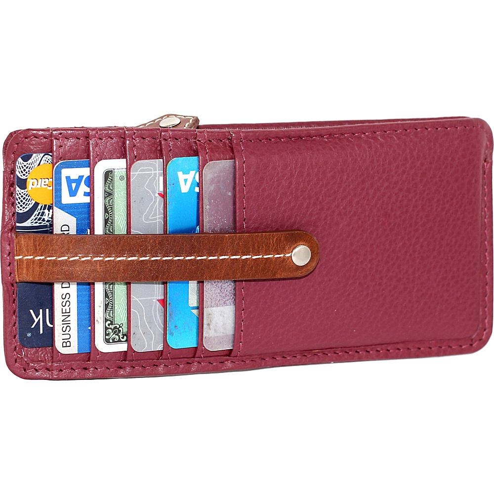 Nino Bossi Carley Card Holder Merlot - Nino Bossi Womens Wallets - Women's SLG, Women's Wallets