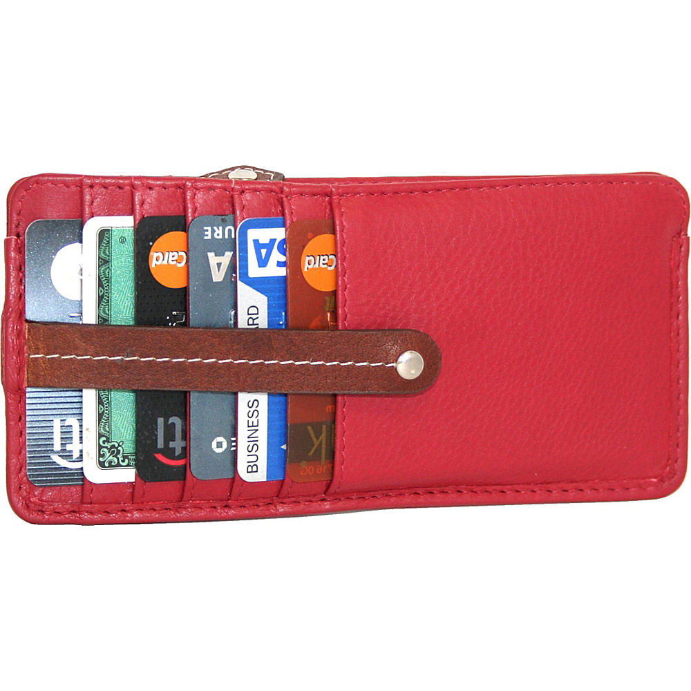 Nino Bossi Carley Card Holder Crimson - Nino Bossi Womens Wallets - Women's SLG, Women's Wallets