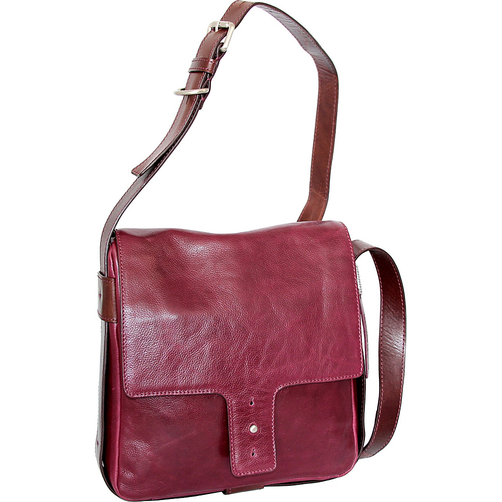 Nino Bossi June Cross Body Plum - Nino Bossi Leather Handbags - Handbags, Leather Handbags