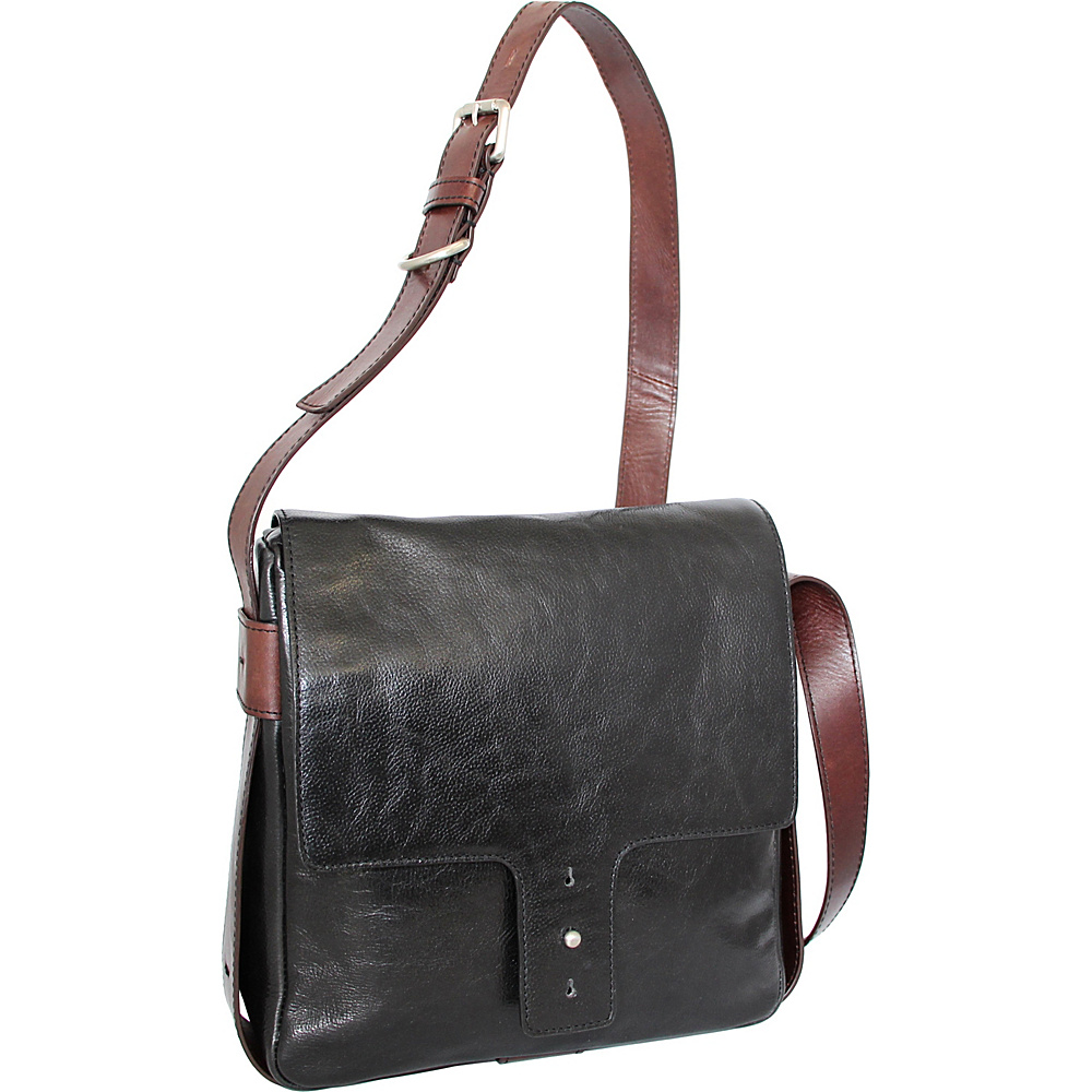 Nino Bossi June Cross Body Black - Nino Bossi Leather Handbags - Handbags, Leather Handbags