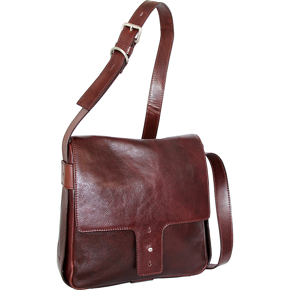 Nino Bossi June Cross Body Walnut - Nino Bossi Leather Handbags - Handbags, Leather Handbags