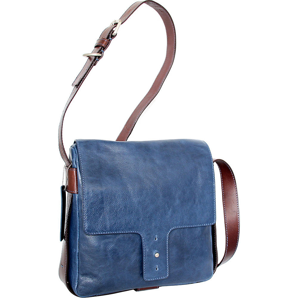 Nino Bossi June Cross Body Blue - Nino Bossi Leather Handbags - Handbags, Leather Handbags