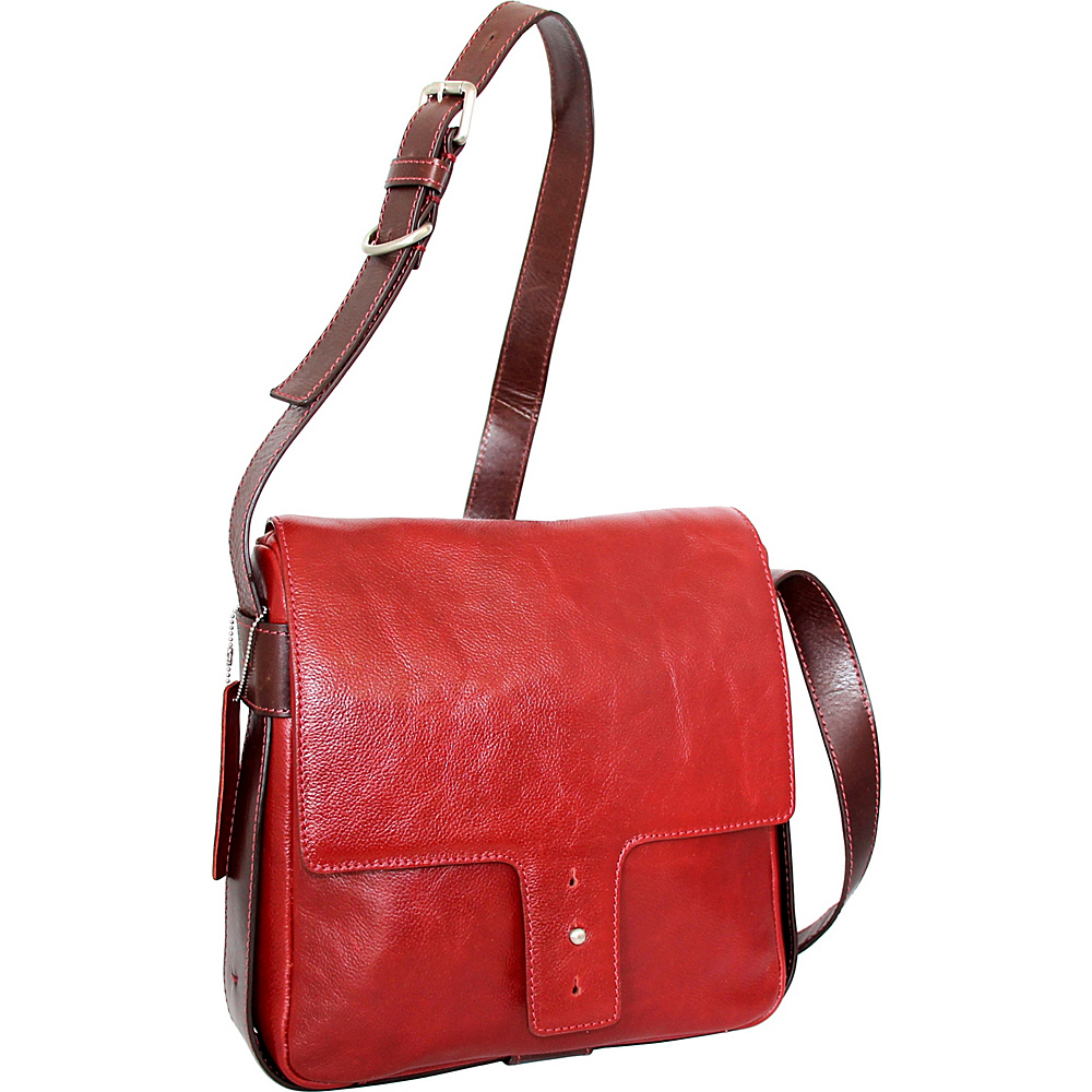 Nino Bossi June Cross Body Red - Nino Bossi Leather Handbags - Handbags, Leather Handbags