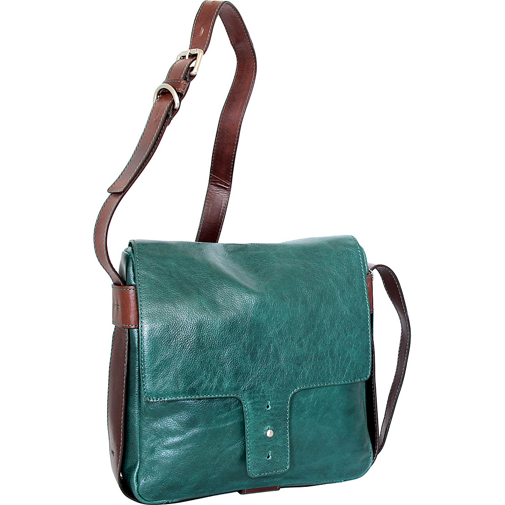 Nino Bossi June Cross Body Green - Nino Bossi Leather Handbags - Handbags, Leather Handbags