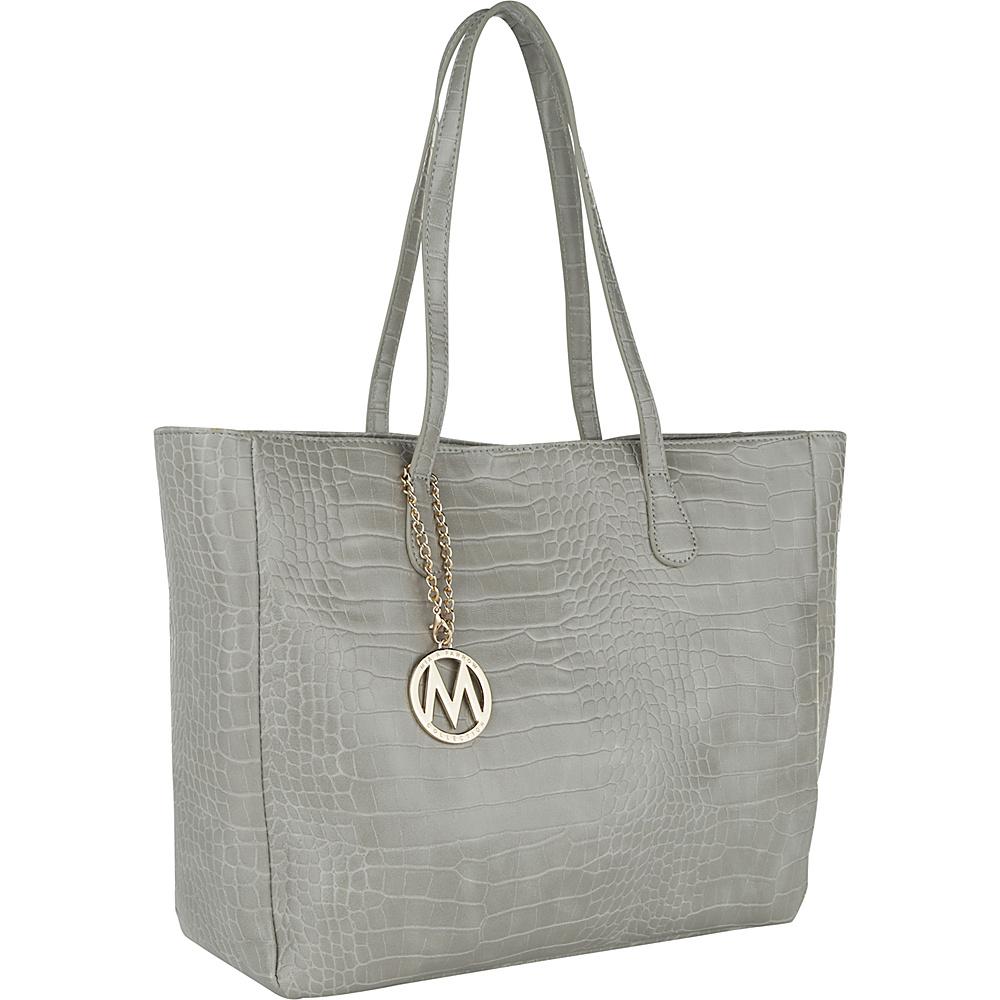 MKF Collection by Mia K. Farrow Sadie Back to Work Tote Light Grey - MKF Collection by Mia K. Farrow Manmade Handbags - Handbags, Manmade Handbags