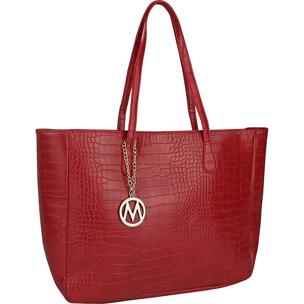 MKF Collection by Mia K. Farrow Sadie Back to Work Tote Red - MKF Collection by Mia K. Farrow Manmade Handbags - Handbags, Manmade Handbags