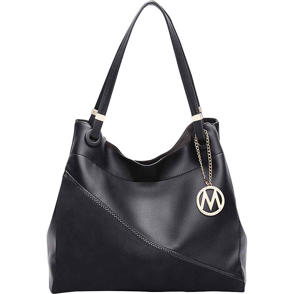 MKF Collection by Mia K. Farrow Camille Two Tone Hobo Black - MKF Collection by Mia K. Farrow Manmade Handbags - Handbags, Manmade Handbags