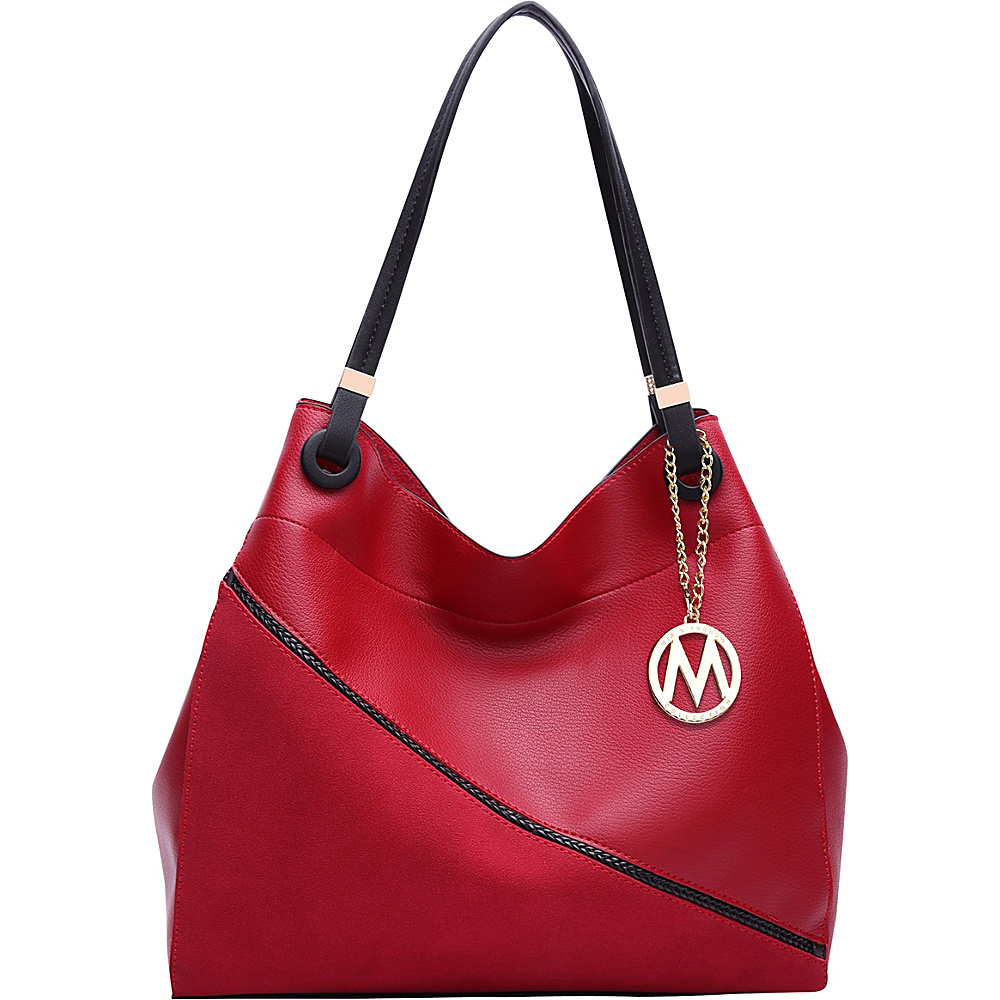 MKF Collection by Mia K. Farrow Camille Two Tone Hobo Red - MKF Collection by Mia K. Farrow Manmade Handbags - Handbags, Manmade Handbags