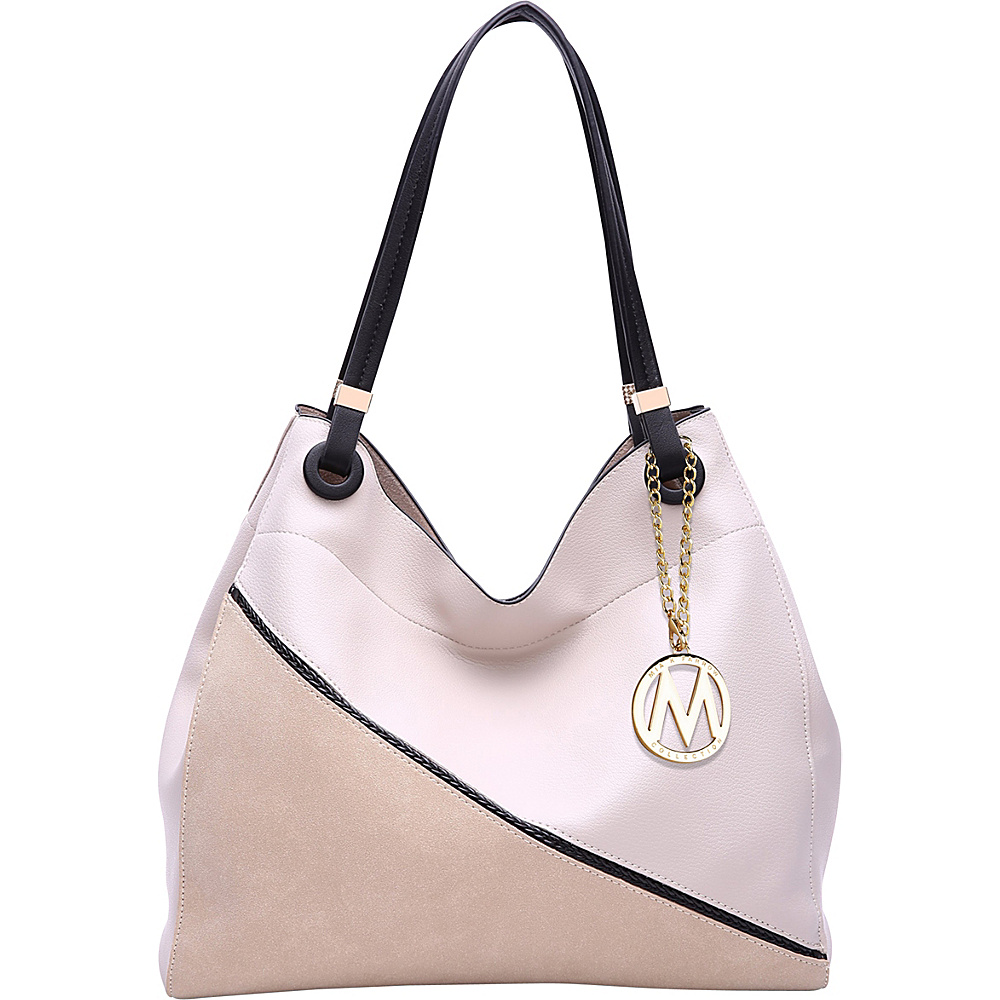 MKF Collection by Mia K. Farrow Camille Two Tone Hobo Bone - MKF Collection by Mia K. Farrow Manmade Handbags - Handbags, Manmade Handbags