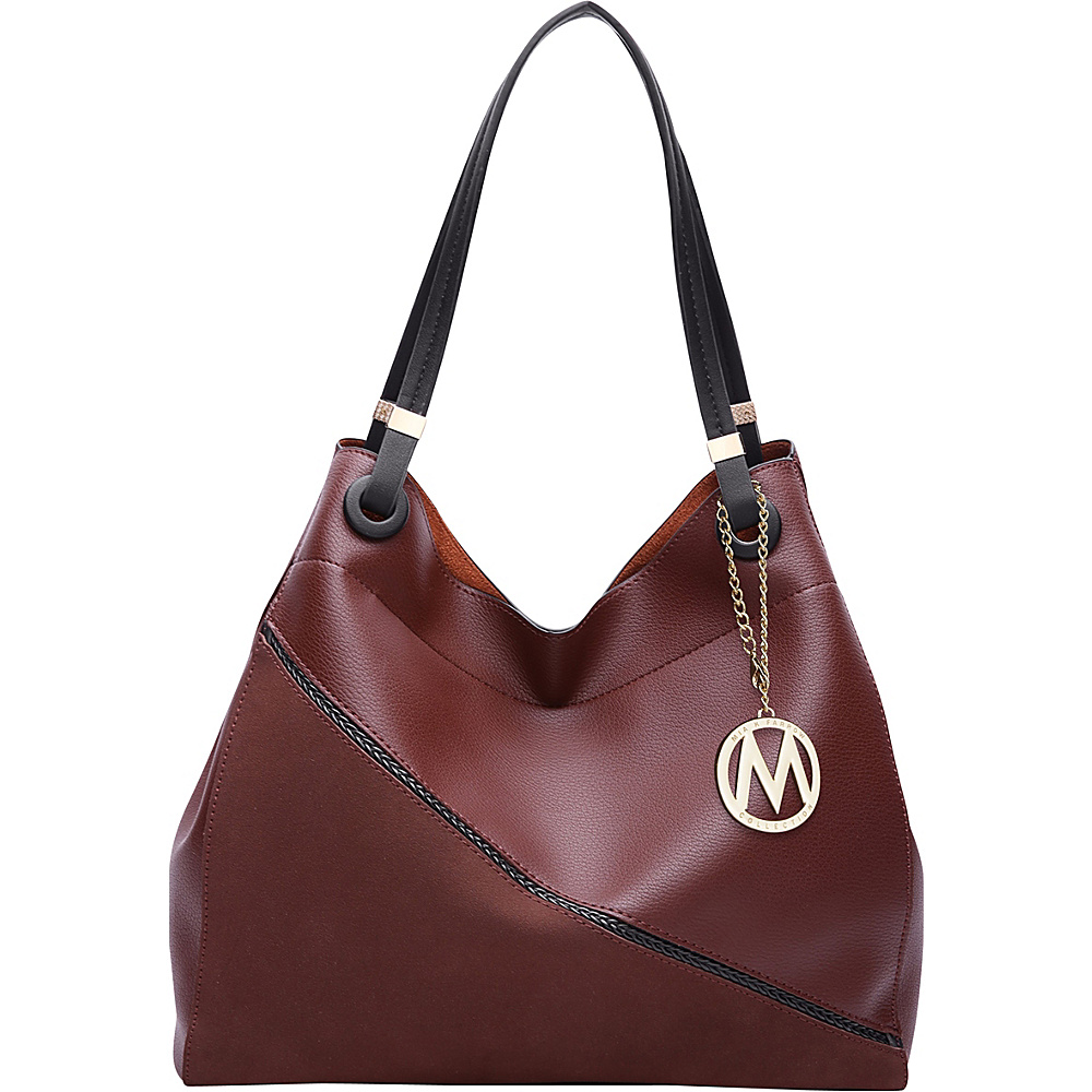 MKF Collection by Mia K. Farrow Camille Two Tone Hobo Coffee - MKF Collection by Mia K. Farrow Manmade Handbags - Handbags, Manmade Handbags