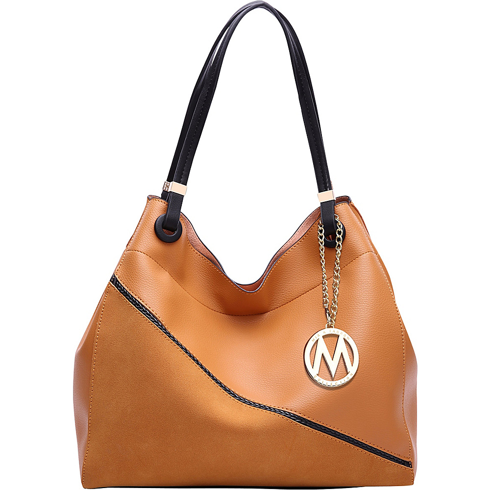 MKF Collection by Mia K. Farrow Camille Two Tone Hobo Mustard - MKF Collection by Mia K. Farrow Manmade Handbags - Handbags, Manmade Handbags