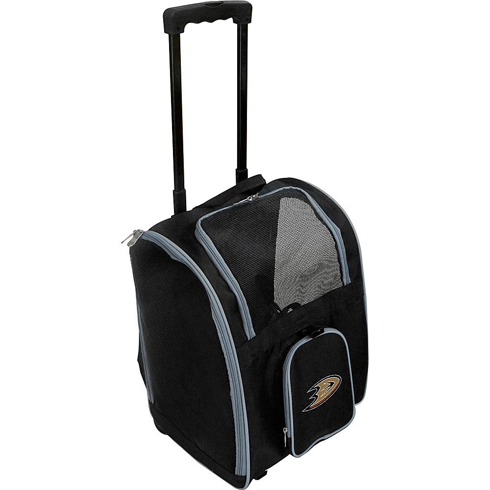 Mojo Licensing NHL Wheeled 16  Premium Pet Carrier Anaheim Ducks - Mojo Licensing Pet Bags NHL Wheeled 16  Premium Pet Carrier Anaheim Ducks. NHL Pet Carrier Premium bag with wheels