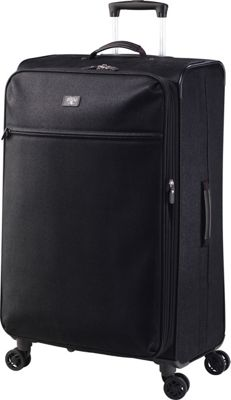 Jump Solera Large Expandable Spinner Packing Suitcase Black - Jump Softside Checked