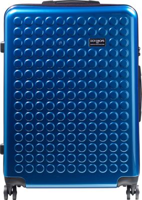 Dot Drops Chapter 2 29 inch Hardside Checked Spinner Luggage Ice Blue - Dot Drops Hardside Checked