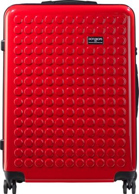 Dot Drops Chapter 2 29 inch Hardside Checked Spinner Luggage Red - Dot Drops Hardside Checked