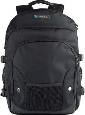 TechProducts 360 Tech Pack Backpack for 16 inch Notebook Black - TechProducts 360 Laptop Backpacks