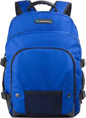 TechProducts 360 Tech Pack Backpack for 16 inch Notebook Blue - TechProducts 360 Laptop Backpacks