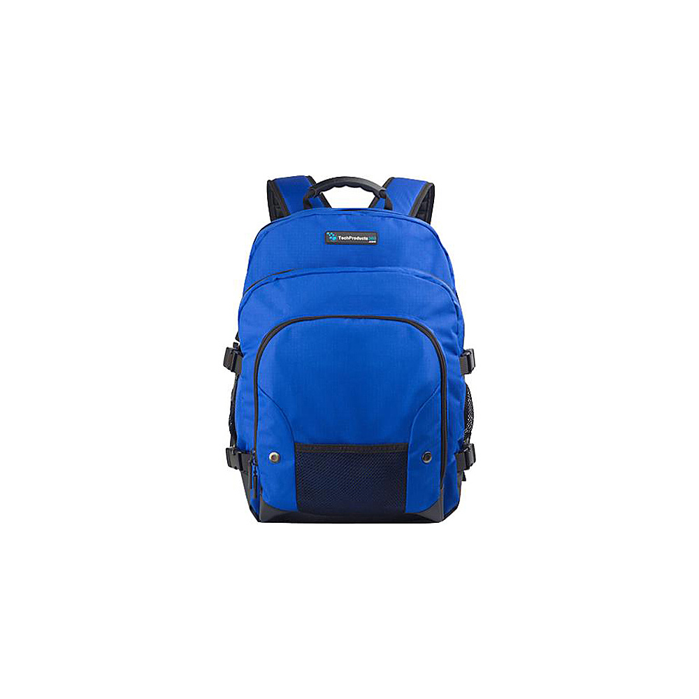 "Techproducts 360 Tech Pack Backpack For 16"" Notebook Blue Techproducts 360 Laptop Backpacks"