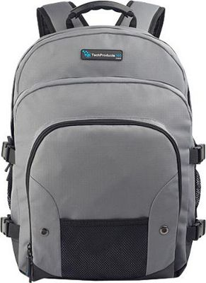 TechProducts 360 Tech Pack Backpack for 16 inch Notebook Grey - TechProducts 360 Laptop Backpacks