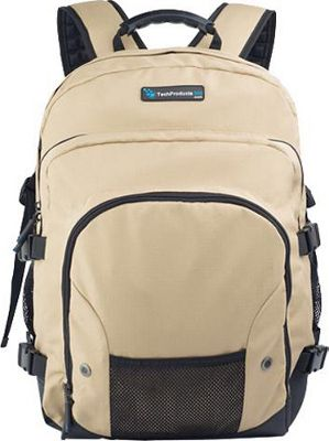 TechProducts 360 Tech Pack Backpack for 16 inch Notebook Khaki - TechProducts 360 Laptop Backpacks