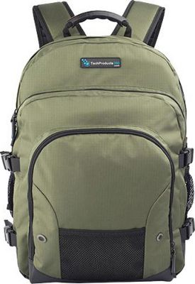 TechProducts 360 Tech Pack Backpack for 16 inch Notebook Green - TechProducts 360 Laptop Backpacks