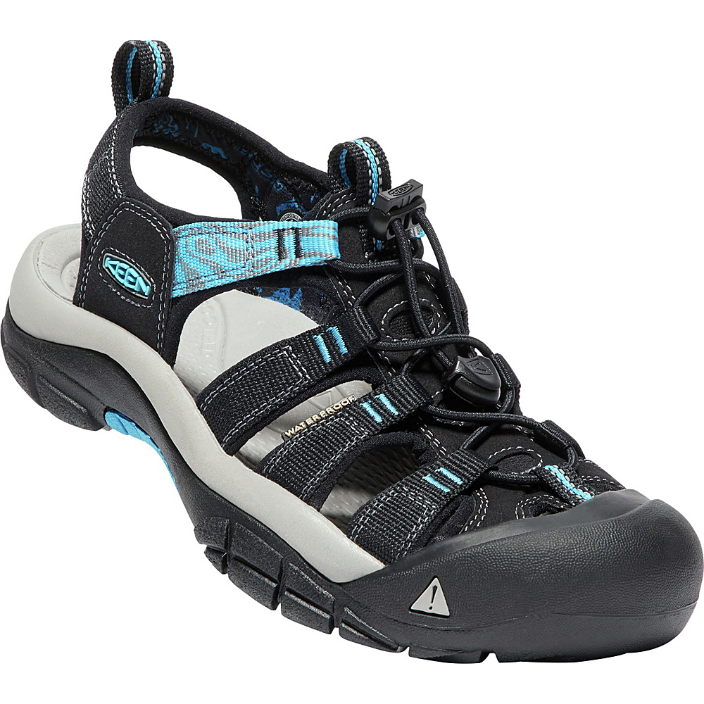 KEEN Womens Newport Hydro Sandals 9 - Black/Norse Blue - KEEN Womens Footwear - Apparel & Footwear, Women's Footwear