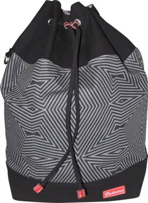 Budweiser Bowtie Drawstring Bucket Backpack Black - Budweiser Everyday Backpacks