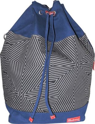 Budweiser Bowtie Drawstring Bucket Backpack Blue - Budweiser Everyday Backpacks