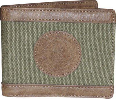 Budweiser Eagle Wings Slimfold Wallet Green - Budweiser Men's Wallets