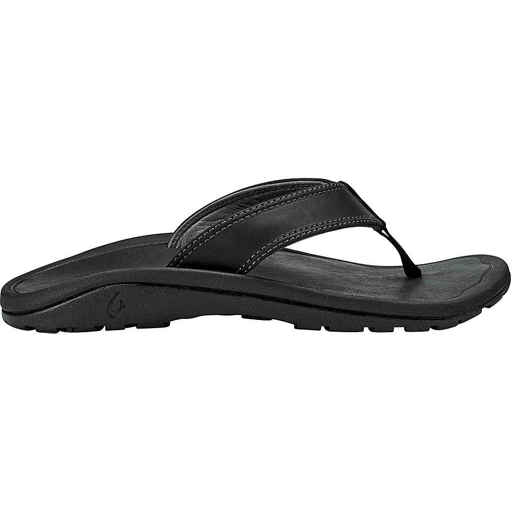OluKai Mens Ohana IlI Sandals 7 - Black/Black - OluKai Mens Footwear - Apparel & Footwear, Men's Footwear