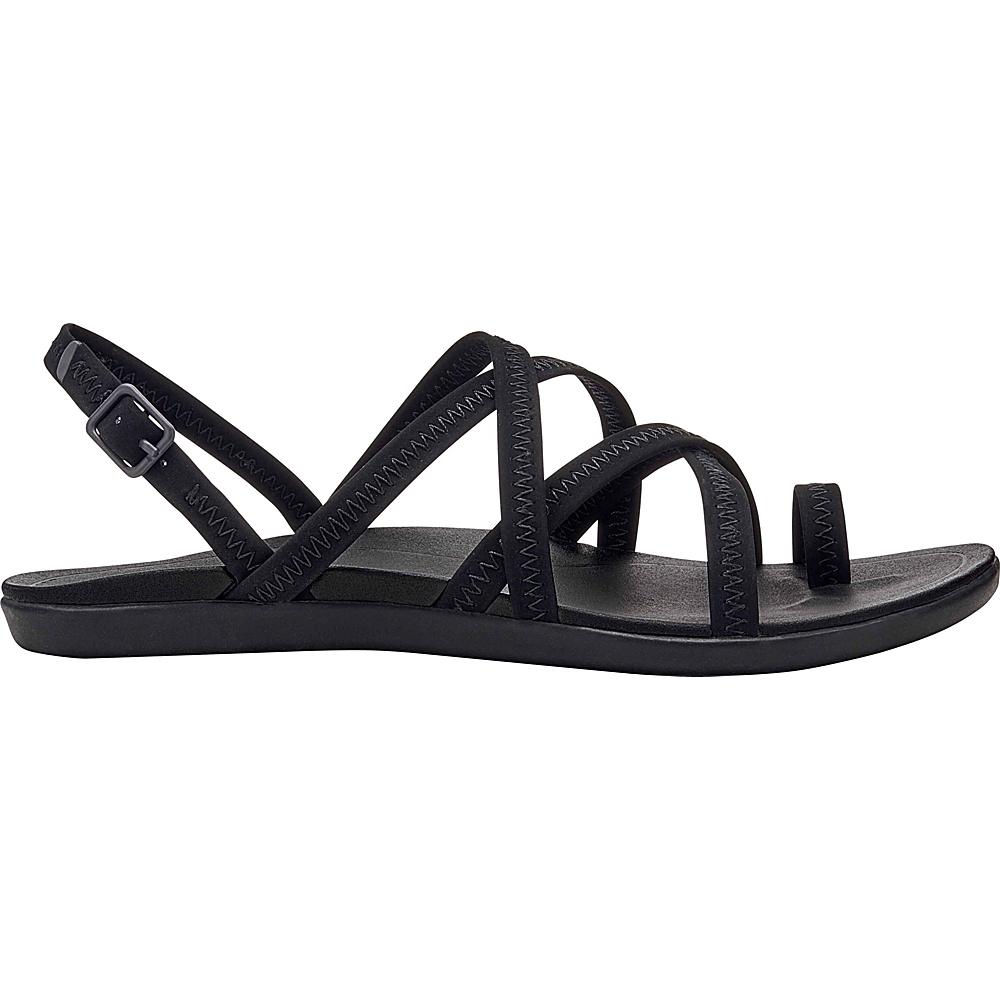 OluKai Womens Kalapu Sandal 6 - Black/Black - OluKai Womens Footwear - Apparel & Footwear, Women's Footwear