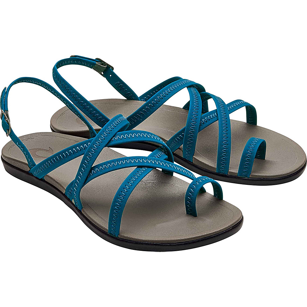OluKai Womens Kalapu Sandal 7 - Legion Blue/Fog - OluKai Womens Footwear - Apparel & Footwear, Women's Footwear