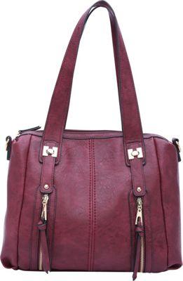 STYLE STRATEGY Liz Satchel Wine Red - STYLE STRATEGY Manmade Handbags