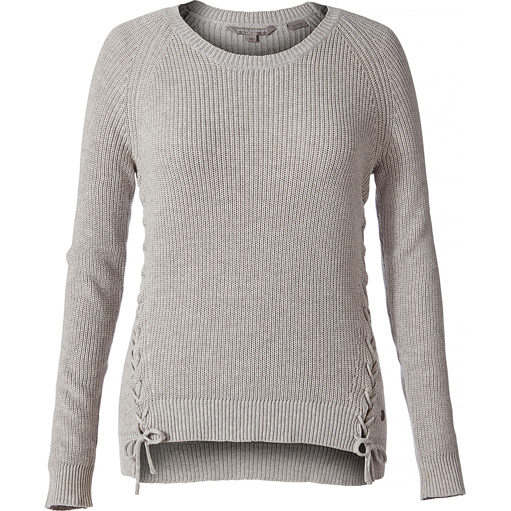 Royal Robbins Womens Lattice Crew Sweater S - Light Pelican Heather - Royal Robbins Womens Apparel - Apparel & Footwear, Women's Apparel