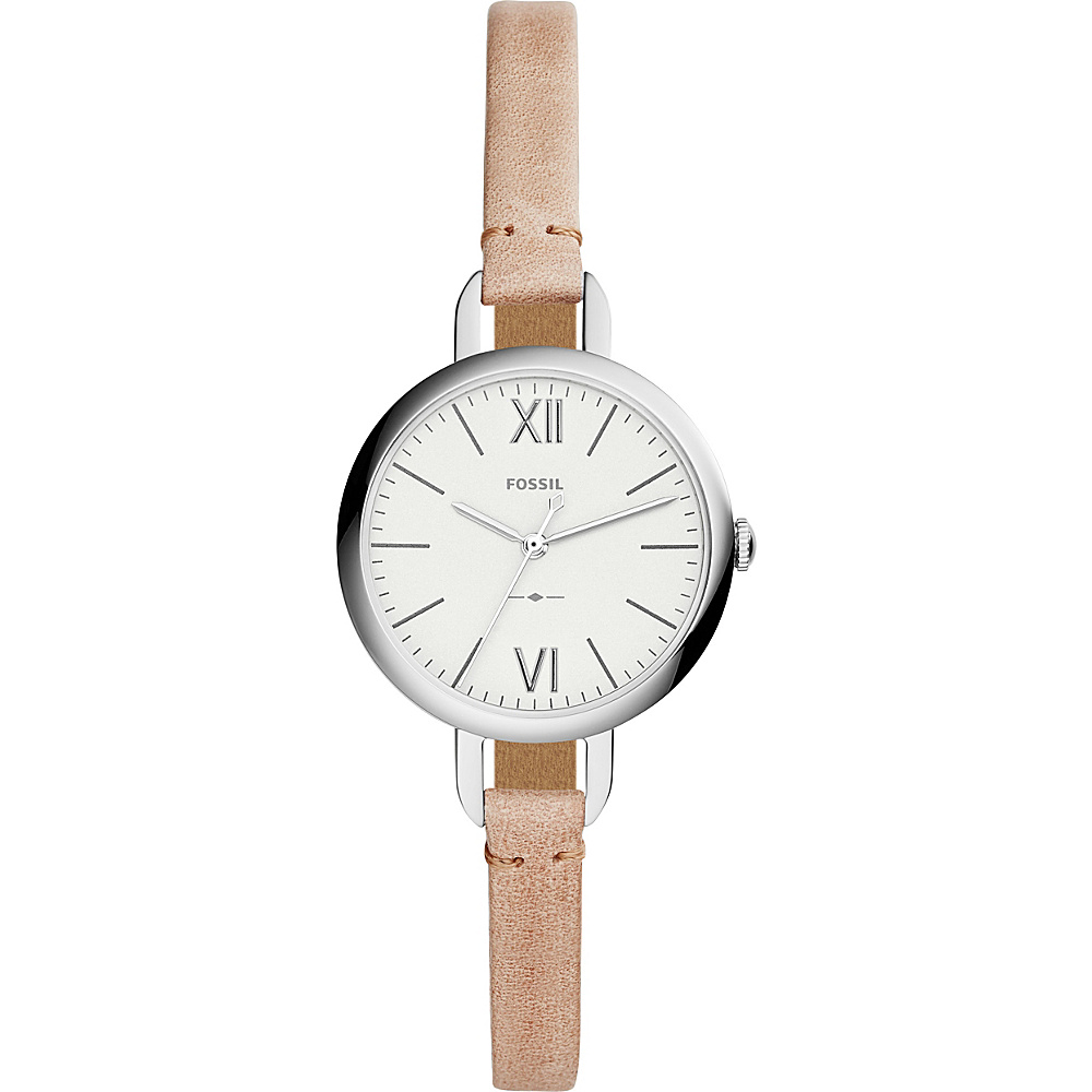 Fossil Annette Three-Hand Sand Leather Watch Brown - Fossil Watches - Fashion Accessories, Watches