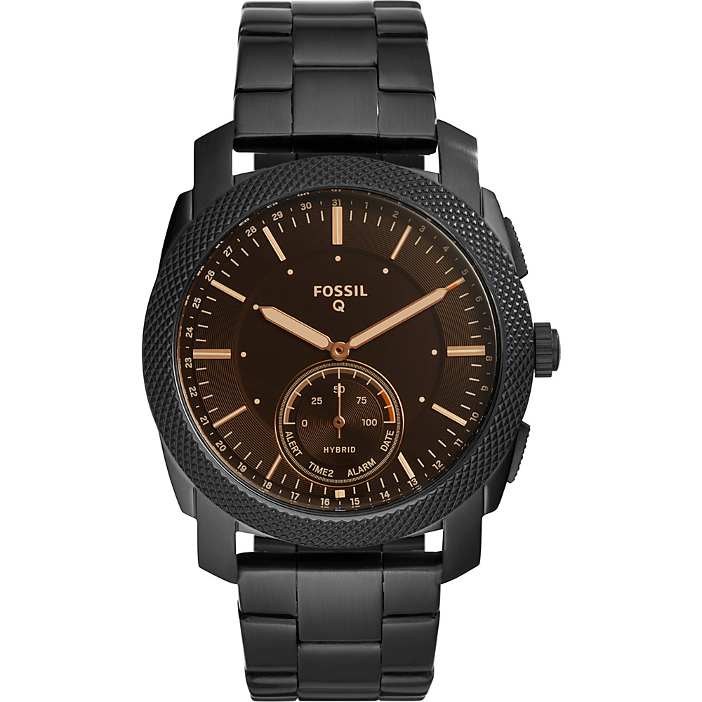 Fossil Q Machine Black Stainless Steel Hybrid Smartwatch Black - Fossil Wearable Technology