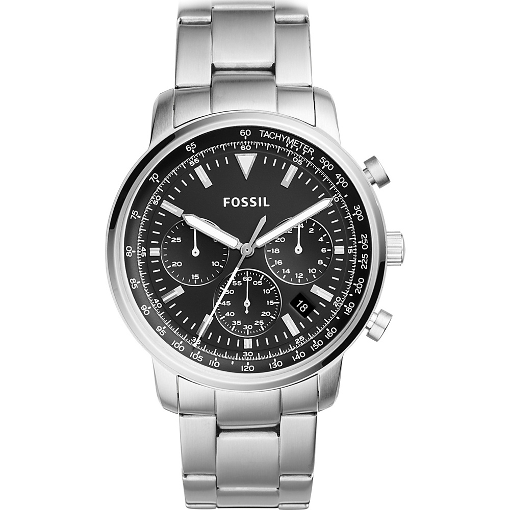 Fossil Goodwin Chronogragh Stainless Steel Watch Silver - Fossil Watches - Fashion Accessories, Watches