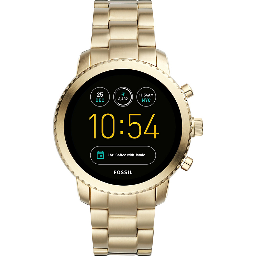 Fossil Gen 3 Q Explorist Gold-Tone Stainless Steel Smartwatch Gold - Fossil Wearable Technology
