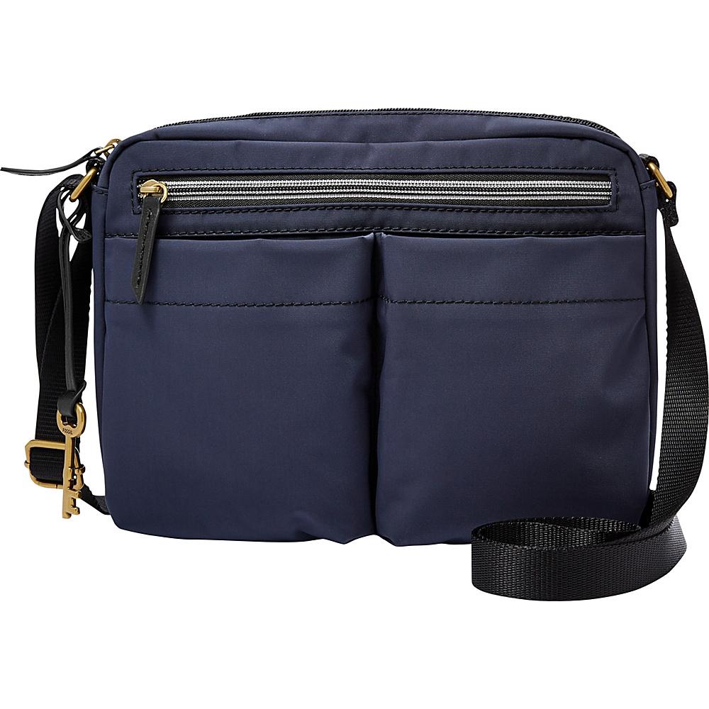 Fossil Bailey EW Crossbody Navy - Fossil Fabric Handbags - Handbags, Fabric Handbags