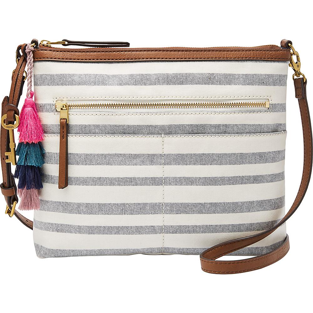 Fossil Fiona Crossbody Blue Stripe - Fossil Fabric Handbags - Handbags, Fabric Handbags