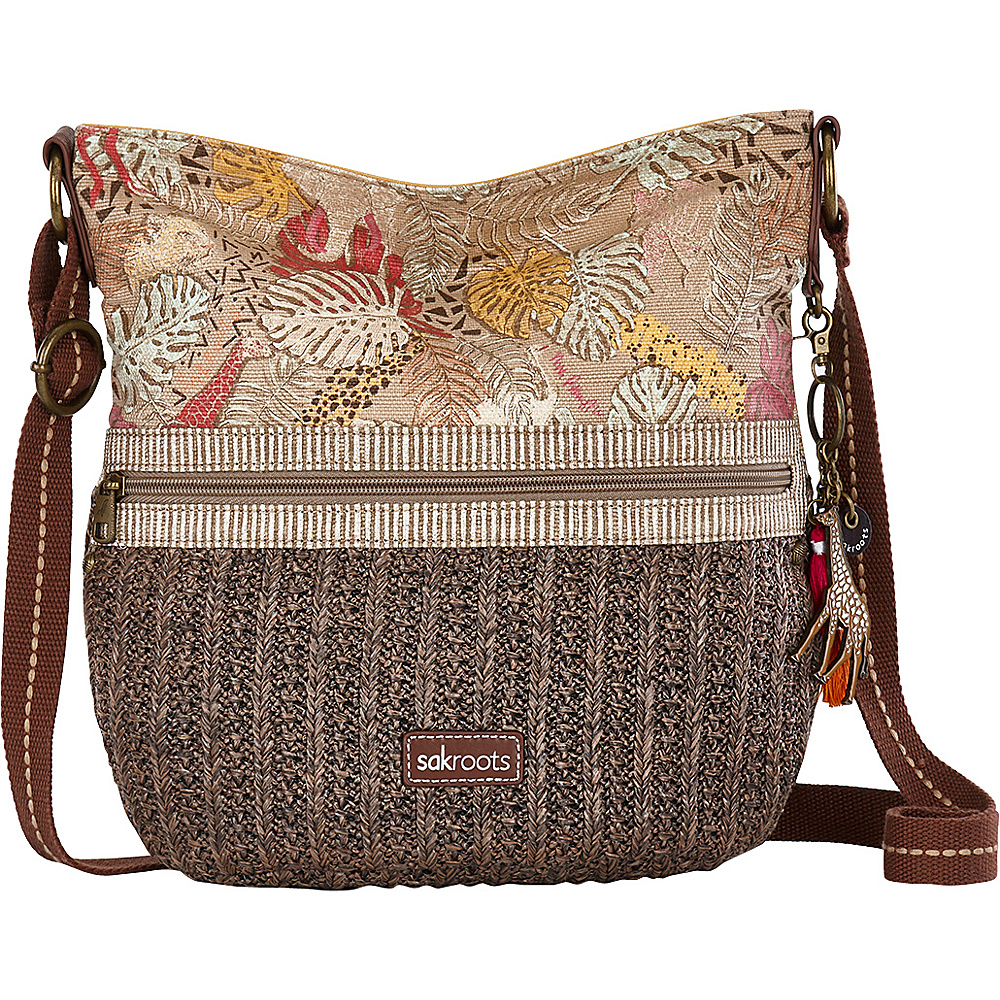 Sakroots Soft Straw Bucket Tan Wildlife - Sakroots Fabric Handbags - Handbags, Fabric Handbags