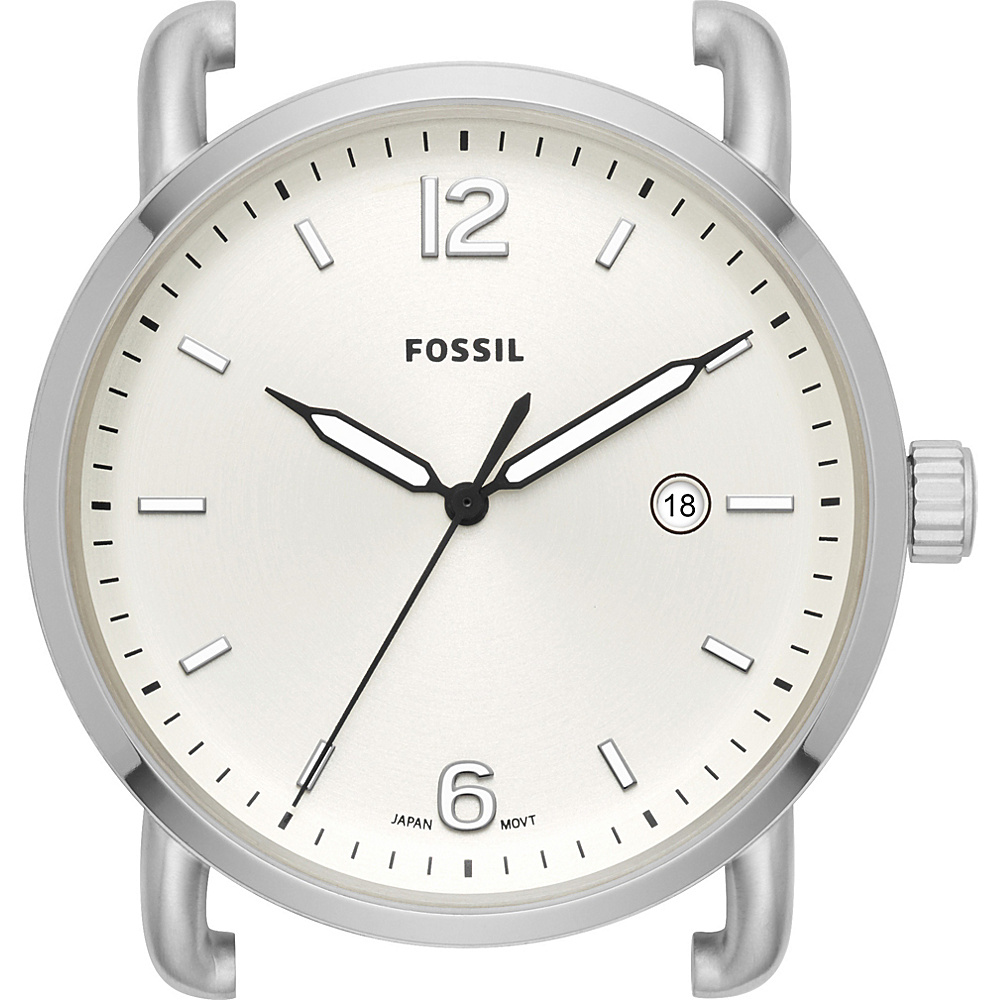 Fossil The Commuter Three-Hand Date Stainless Steel Watch Case Silver - Fossil Watches - Fashion Accessories, Watches