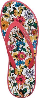 Sakroots Womens Encore Flip Flops 10 - Optic In Bloom - Sakroots Women's Footwear 10656589