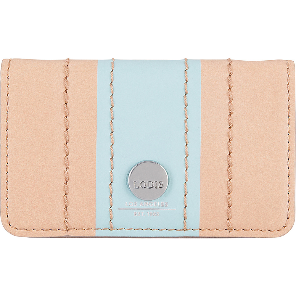 Lodis Rodeo Stripe RFID Mini Card Case Beige - Lodis Business Accessories - Work Bags & Briefcases, Business Accessories