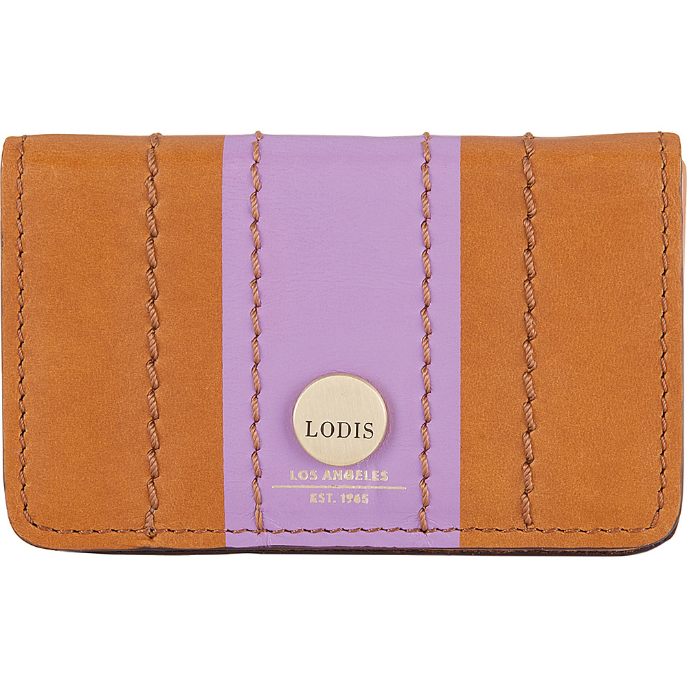 Lodis Rodeo Stripe RFID Mini Card Case Toffee - Lodis Business Accessories - Work Bags & Briefcases, Business Accessories