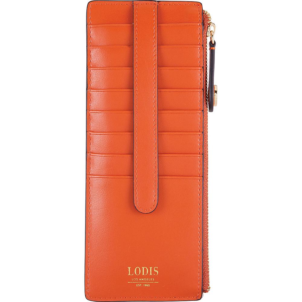 Lodis Laguna RFID Credit Card Case With Zipper Pocket Papaya - Lodis Womens Wallets - Women's SLG, Women's Wallets