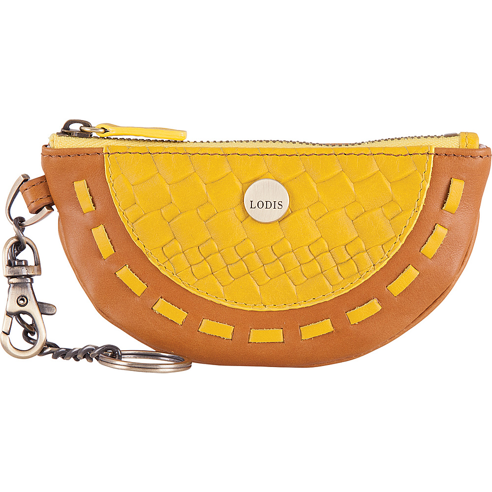 Lodis Rodeo Woven RFID Nika Wedge Pouch Yellow - Lodis Womens SLG Other - Women's SLG, Women's SLG Other