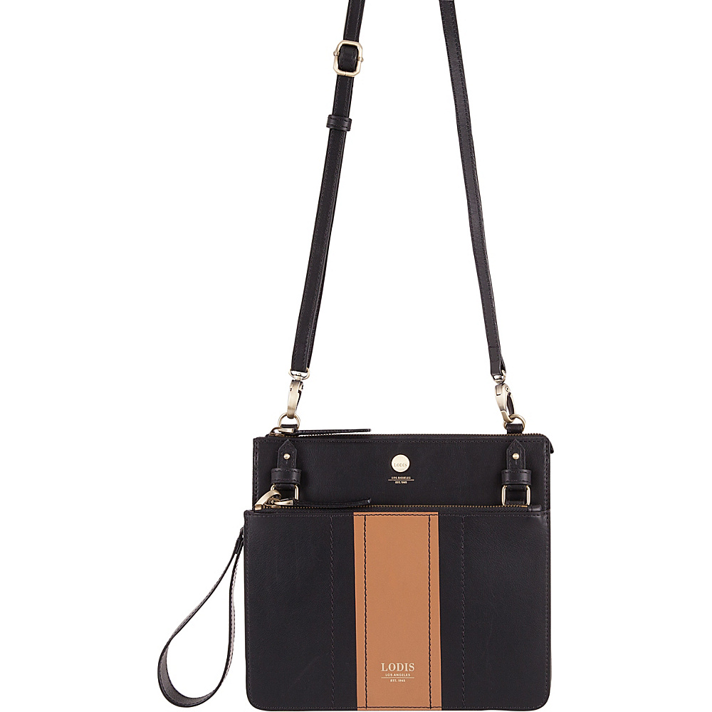 Lodis Rodeo Stripe RFID Odele Crossbody Black - Lodis Leather Handbags - Handbags, Leather Handbags
